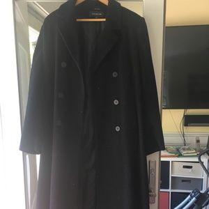 Jones New York wool black peacoat